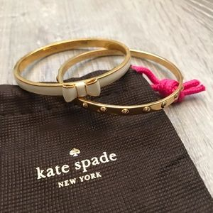 Kate Spade Bow Bangle Bracelets NWOT
